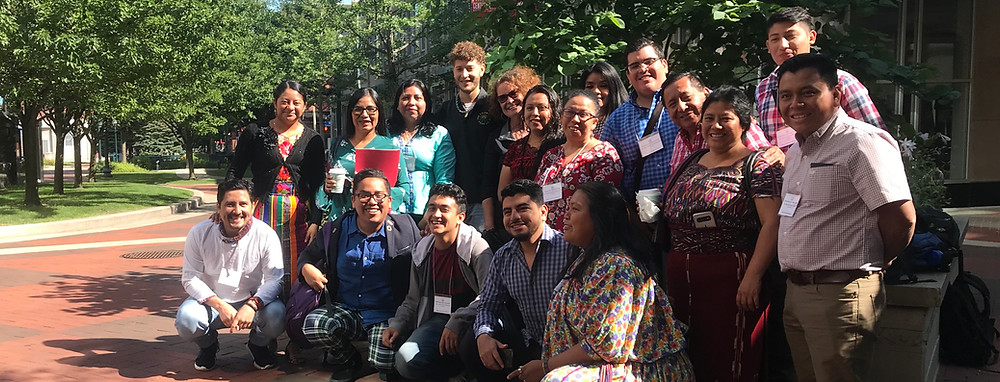 Pictured: Participants in a Minority and NGO Participation in the Democratic Process IVLP Program, from El Salvador, Guatemala, and Mexico, after a meeting with the Kalamazoo Promise