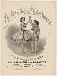 Advertisement for De Pol's Grand Ballet Troupe featuring Mlle. Morlacchi