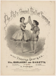 Poster for DePol's Grand Ballet Troupe featuring Morlacchi