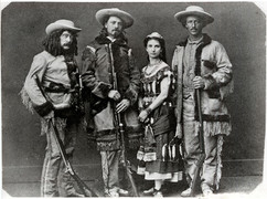 Ned Buntline, Buffalo Bill, Giuseppina Morlacchi, and Texas Jack