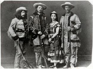 Ned Buntline, Buffalo Bill, Giuseppina Morlacchi, and Texas Jack