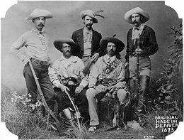 Texas Jack and Buffalo Bill hunting group