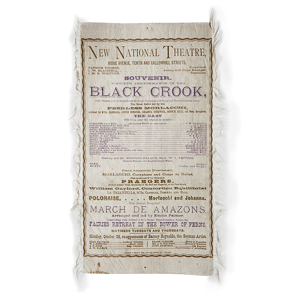 The Black Crook Silk Broadside