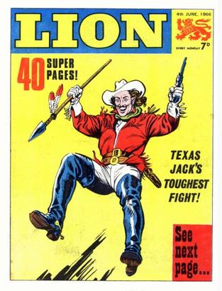 British Lion Comic featuring Texas Jack