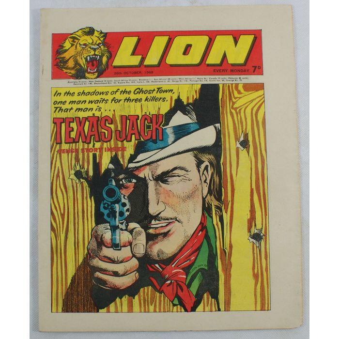 Texas Jack Lion Comic - October 26, 1969.