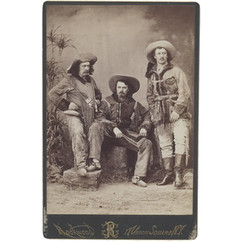 Ned Buntline, Buffalo Bill, and Texas Jack