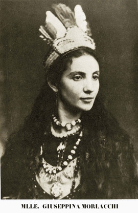 Morlacchi in her Scouts of the Prairie stage costume