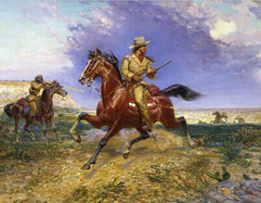Texas Jack painting by Louis Maurer