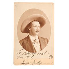 Autographed CdV of Texas Jack