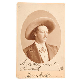 Autographed CdV of Texas Jack
