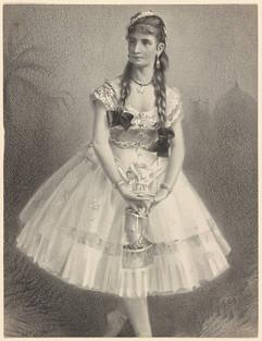 Lithograph of Giuseppina Morlacchi