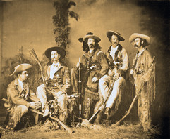 Wild Bill, Buffalo Bill, Texas Jack, and hunting party