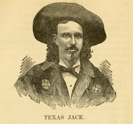 Illustration of Texas Jack from James W. Buel's book Heroes of the Plains.