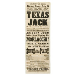 Broadsheet advertisement for the Texas Jack Combination