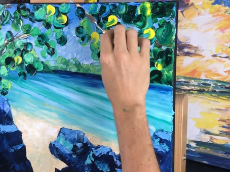 How to Paint a Beach Scene with Palette Knives