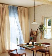 天然素材のカーテン(麻)