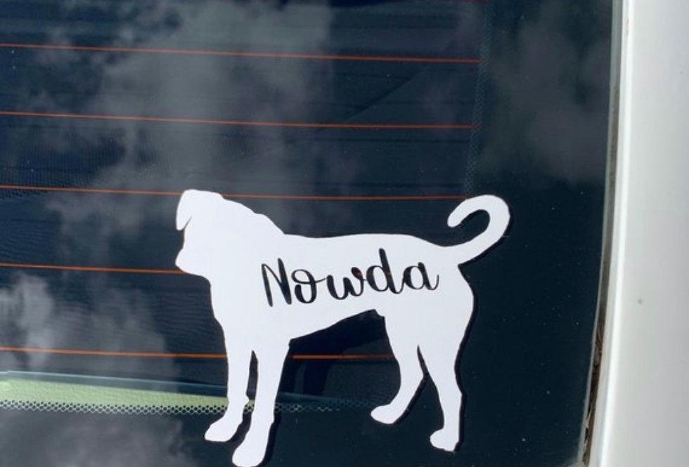 SILHOUETTE Custom Dog Sticker