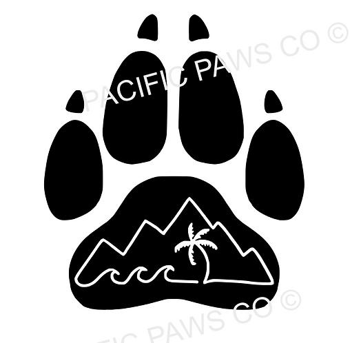 Paw Logo Sticker