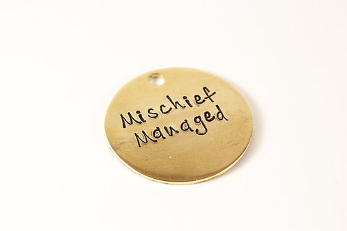 Mischief Managed Dog Tag