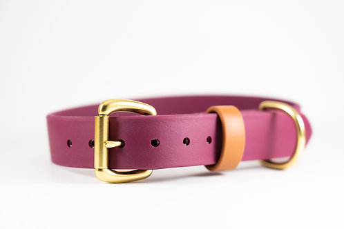 "Maroon 1"" Adventure Series Biothane Collar"