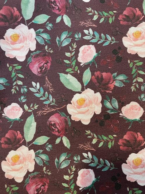 Maroon Rose Canvas collar
