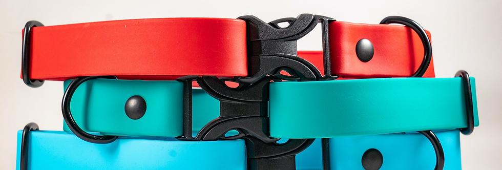 "1"" Flex Series Adjustable Buckle Biothane Adventure Collar"