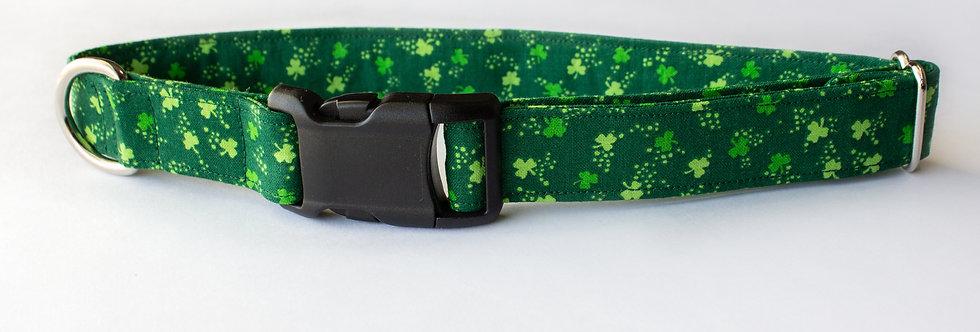"""RTS: Shamrock Dog Collar 15.5-23"""""""