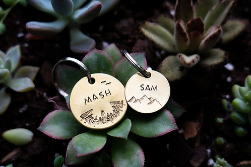 """7/8"""" Small Dog or Cat ID Tag"""