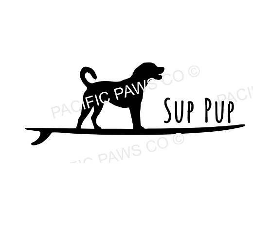 SUP Pup Sticker