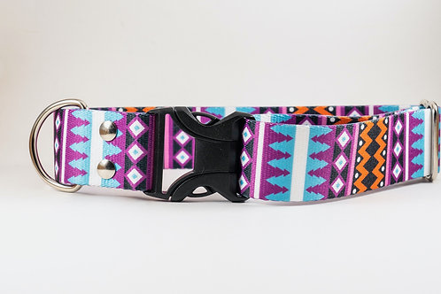 "1"" or 1.5""  Santa Fe Webbing Dog Collar"