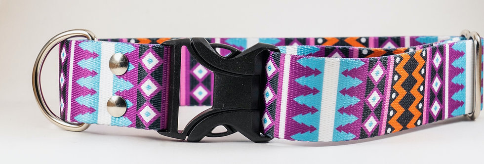 "1"" or 1.5""  Santa Fe Webbing Dog Collar"