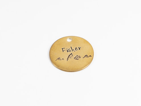 Fisher Dog Tag
