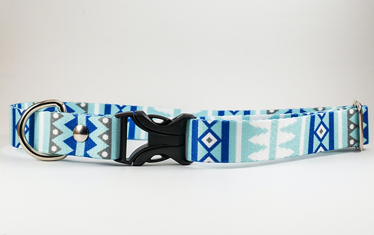 "1"" Snowy Webbing Dog Collar"