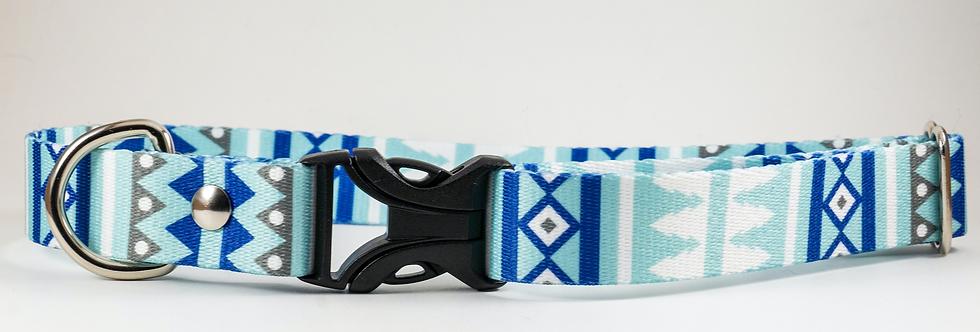 "1"" Snowy Webbing Dog Collar"