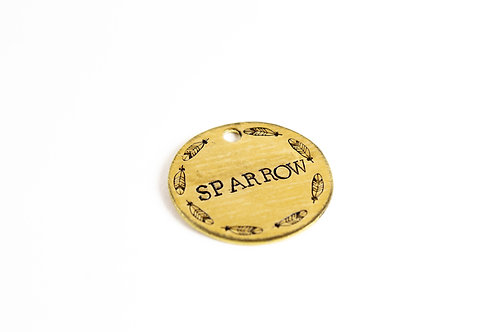 Sparrow Dog Tag