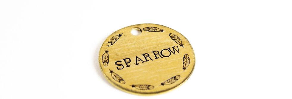Sparrow Dog Tag