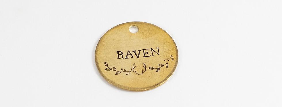 Raven Dog Tag