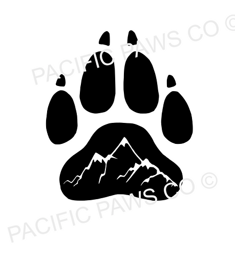 Mountain Paw Sticker