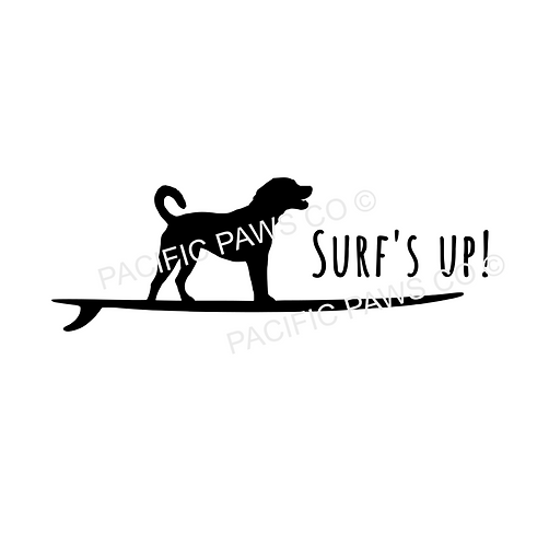 Surfer Dog Sticker