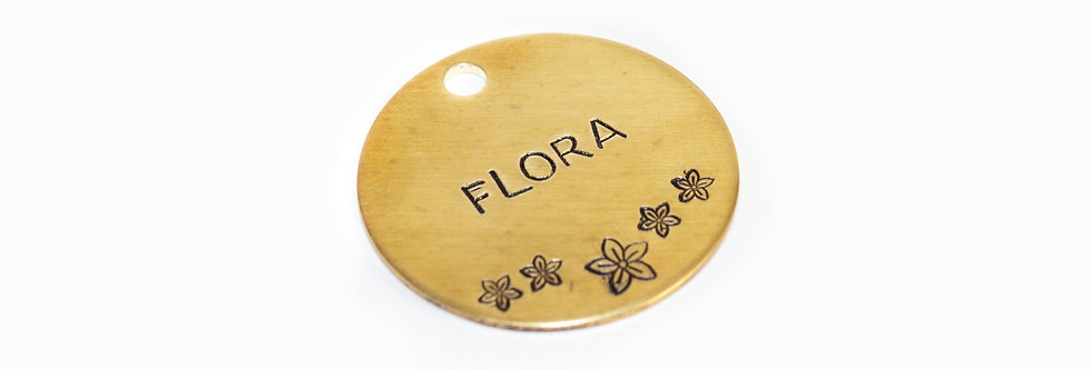 Flora Dog Tag