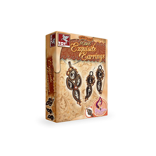 Paper quiling Make Exquisite Earrings for kids ages 5 and above