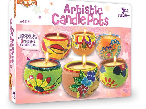 Artistic Candle Pots
