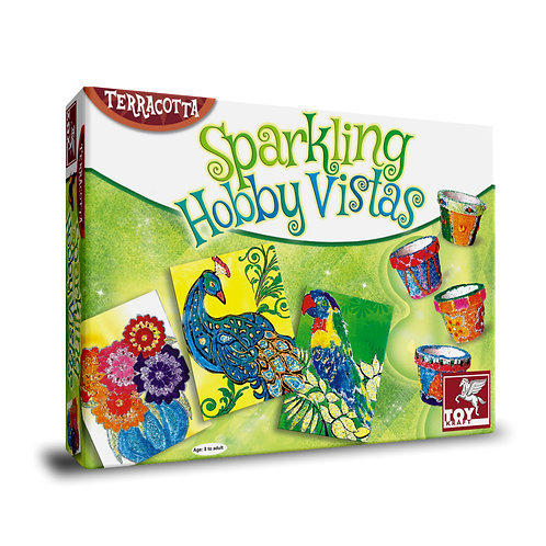Sparkling Hobby Vistas terracotta painting for kids ages 7 and above