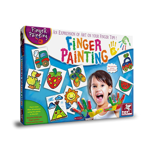 Finger painting for kids ages 3 and above