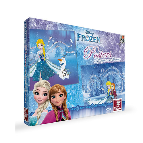 Disney Frozen Posters With Sequin & Shimmer craft toys for kids ages 7 and above