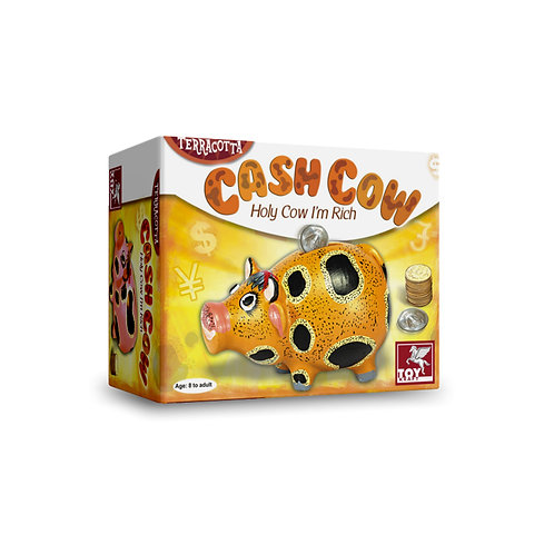 Cash Cow terracotta cash bank for kids ages 7 and above