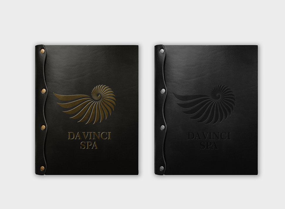 айдентика заказать логотип фирменный стиль студия красот брендбук рестайлинг логотипа разработка лого da vinci spa заказать фирмнный стиль салона красоты logo kolegrafika студия дизайна брендинг