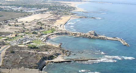 Aerial view of Caesarea