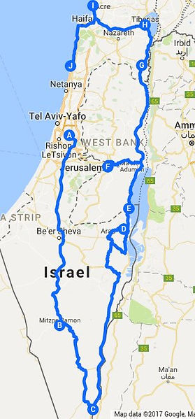 Itinirary for a week in Israel