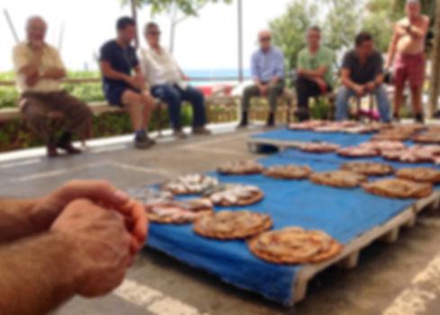 Fish market auctin at fishermen town of Montgat